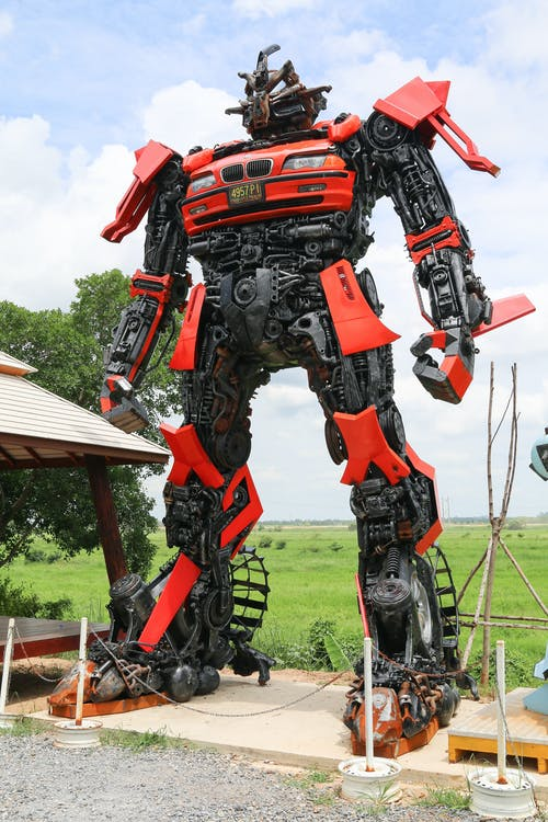 red & black robot