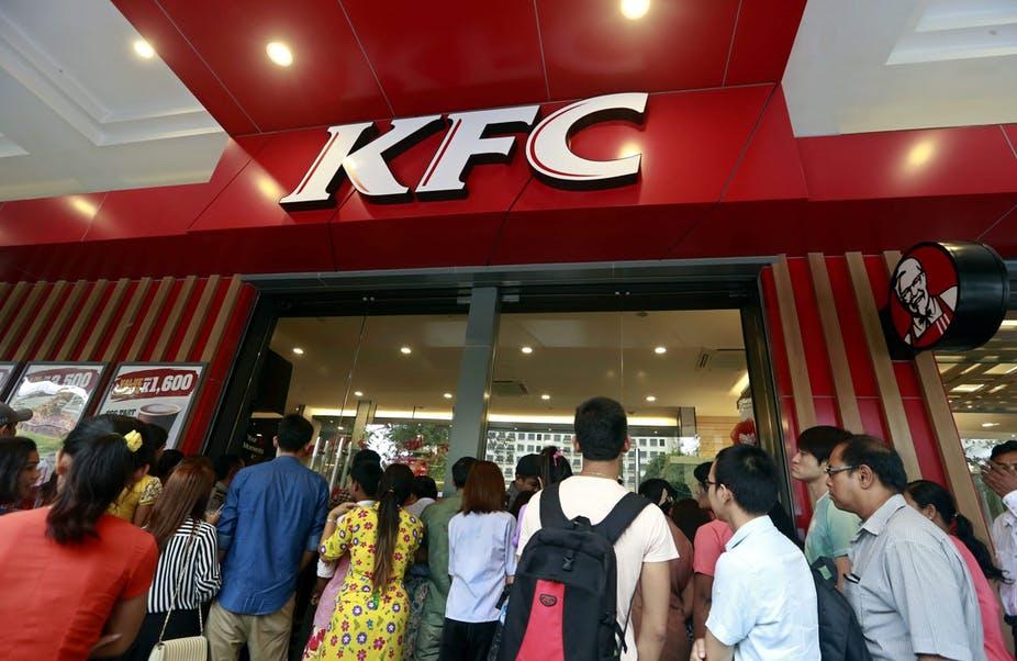 customers at KFC